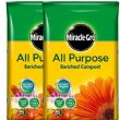 2 x Miracle Gro Enriched Garden Plant Multi All Purpose Potting Compost 40 Ltr